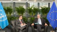 Réunion bilatérale entre Christos Stylianides, membre de la CE, et Imad Fakhoury, ministre jordanien de la Planification et de la Coopération internationale