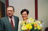 Farewell party for the departure of Yvonne Dervot, collaborator of Jacques Delors, president of the EC