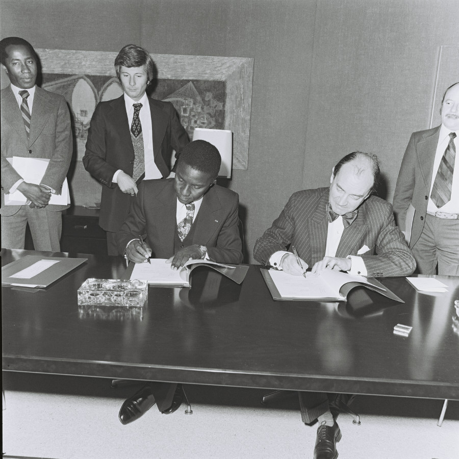 Visit of Léopold Sédar Senghor, President of Senegal, to the CEC