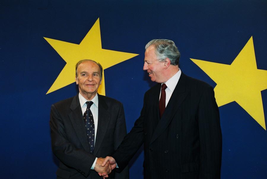 Visite d'Alija Izetbegović, président de la Bosnie-Herzégovine, à la CE