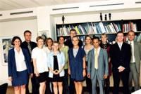 Réception d'un groupe de stagiaires par Ritt Bjerregaard, membre de la CE