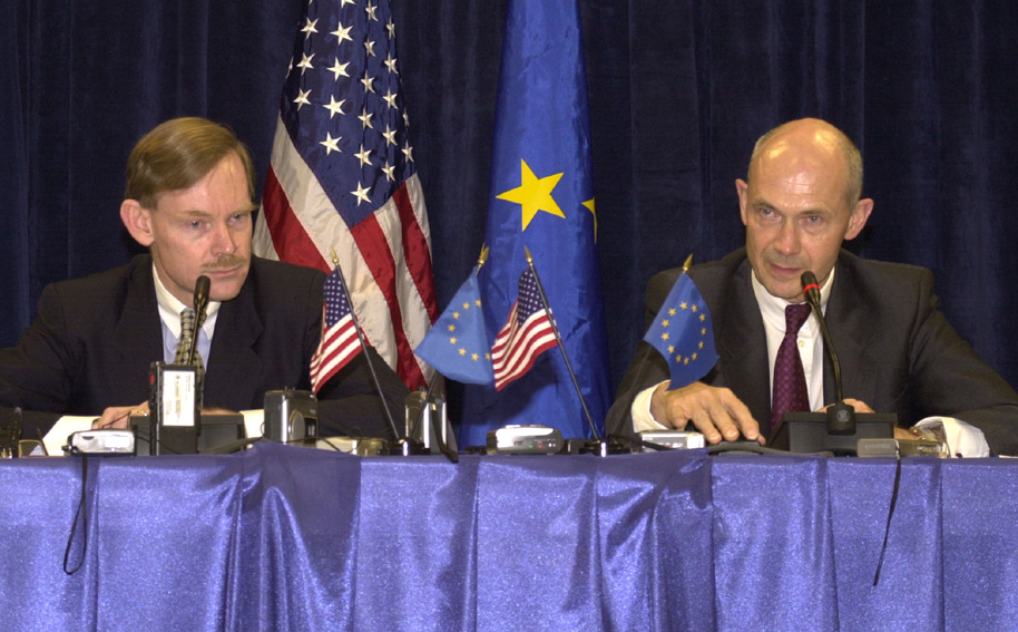 Working meeting between Robert Zoellick, American Trade Representative and Pascal Lamy, Member of the EC