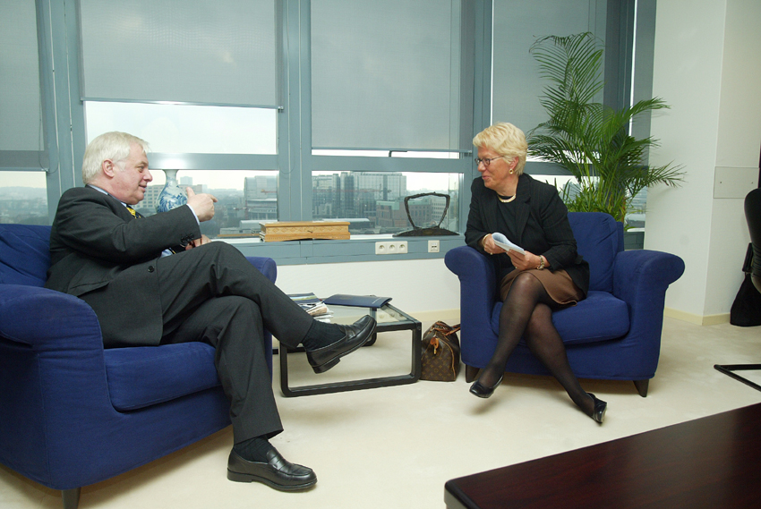 Visit of Carla Del Ponte to the EC