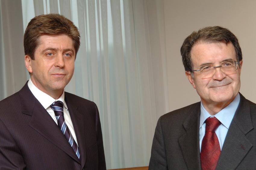 Visite de Georgi Parvanov, président de Bulgarie, à la CE