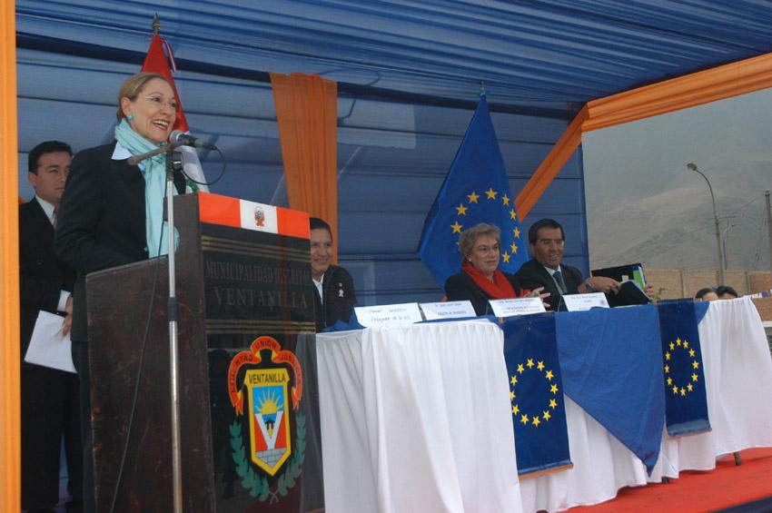 Visit by Benita Ferrero-Waldner, Member of the EC, to Peru