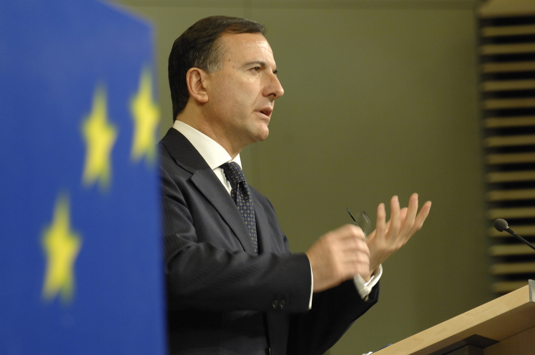 Press conference by Franco Frattini on a comprehensive vision for an integrated European border management system for the 21st Century