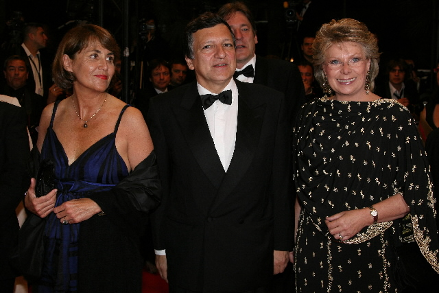 Participation of José Manuel Barroso, President of the EC, and Viviane Reding, Member of the EC, at the 61st Cannes Film Festival