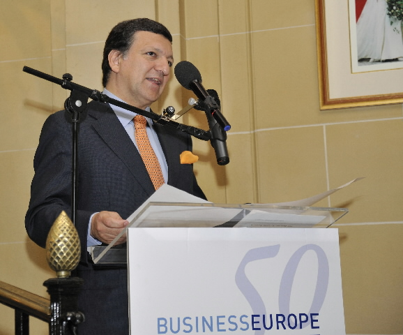 Participation of José Manuel Barroso, President of the EC, in the ceremony for the 50th anniversary of BusinessEurope