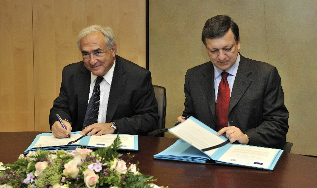 Visit of Dominique Strauss-Kahn, Managing Director of the IMF, to the EC