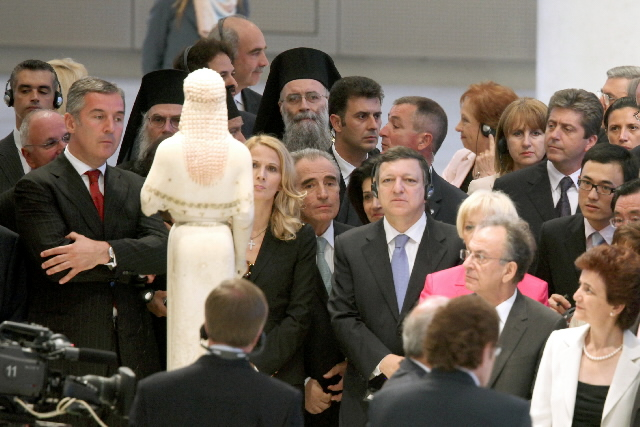 Opening of the Acropolis Museum, in Athens