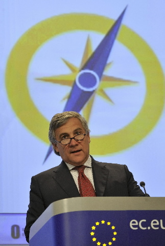 Press conference by Antonio Tajani, Member of the EC, on the new European navigation system, EGNOS