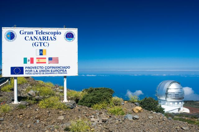 The Roque de Los Muchachos Observatory situated on the Island of La Palma