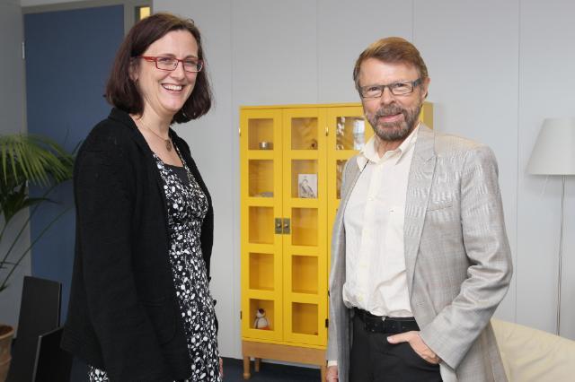 Visiste de Björn Ulvaeus, chanteur et musicien suédois, ancien membre du groupe ABBA, à la CE