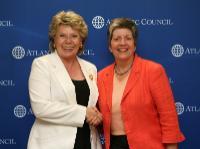 Visite de Viviane Reding, membre de la CE, à Washington