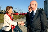 Visit of Androulla Vassiliou, Member of the EC, to the Jean Monnet Foundation, Dorigny Farm, in Lausanne