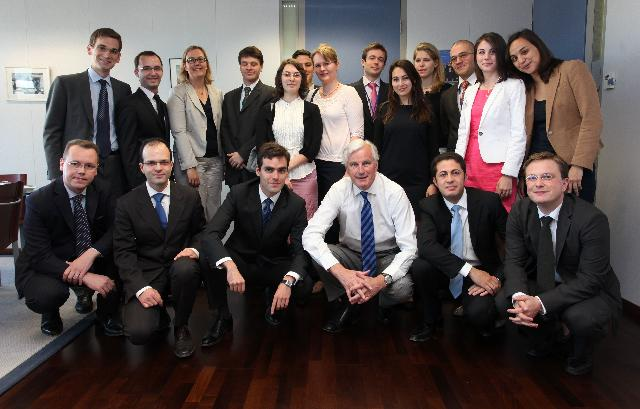 Visit of a group of students from ENA to the EC