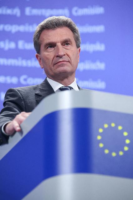 Press conference by Günther Oettinger, Member of the EC, on the legislative proposal of the EC for a Directive on energy efficiency