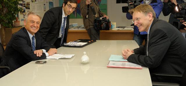 Visite de Corrado Clini, ministre italien de l'Environnement, de la Tutelle du Territoire et de la Mer, à la CE