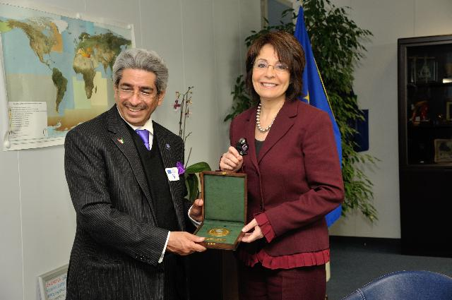 Visit of Adel Al Kharafi, President of the WFEO, to the EC
