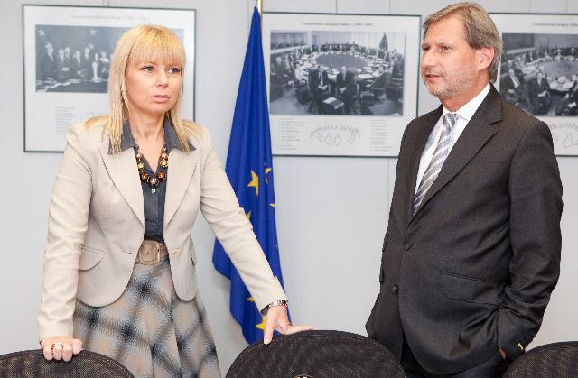 Visite d'Elżbieta Bieńkowska, ministre polonaise du Développement régional, à la CE