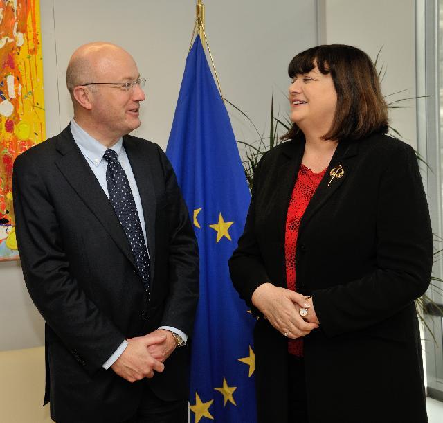 Visite de Mark Ferguson, directeur général de la Science Foundation Ireland, à la CE