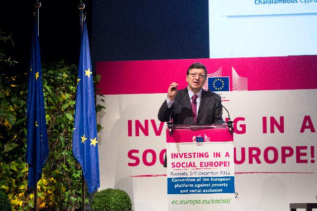 Participation of José Manuel Barroso, President of the EC, and Laszlo Andor, Member of the EC, in the annual Convention of the European Platform against Poverty and Social Exclusion