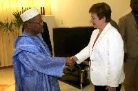 Visit of Kristalina Georgieva, Member of the EC, to Mali
