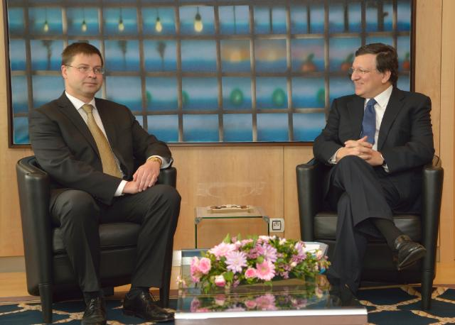 Visit of Valdis Dombrovskis, Latvian Prime Minister, to the EC