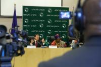 Nkosazana Dlamini-Zuma, on the right, and José M...