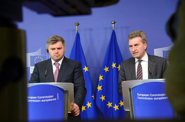 Joint press conference by Günther Oettinger, Member of the EC, and Eduard Stavitskyi, Ukrainian Minister for Energy and Coal Industry, after the EU/Ukraine round table on Energy