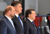 Participation of José Manuel Barroso, President of the EC, Viviane Reding, Vice-President of the EC, and Štefan Füle, member of the EC, in the celebrations for the accession of Croatia to the EU