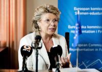 Dialogue avec les citoyens à Helsinki avec Viviane Reding