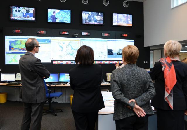 Visite d'Ertharin Cousin, directrice générale du PAM, et Elisabeth Rasmusson, sous-directrice générale du PAM, à la CE et au Centre de réaction d'urgence européen