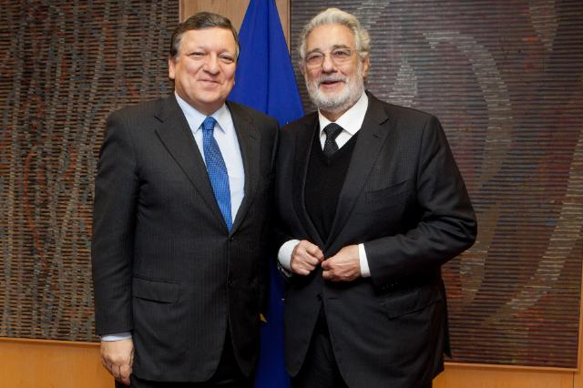 Visit of Plácido Domingo, President of Europa Nostra, to the EC