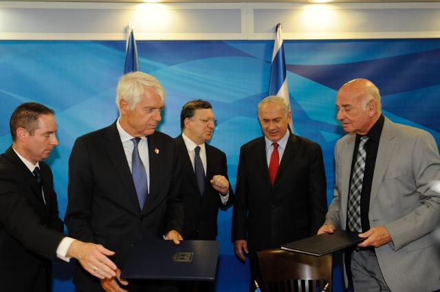 Visite de José Manuel Barroso, président de la CE, en Israël
