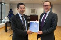 Visite de Vítor Gaspar, président du groupe d'experts de la Commission dans le domaine de la fiscalité de l'économie numérique, à la CE