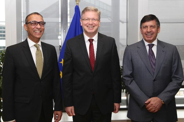 Visit of Phidias Pilides, President of the Cyprus Chamber of Comerce and Industry, and Fikri Toros, President of the Turkish Cypriot Chamber of Commerce, to the EC