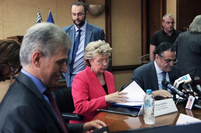 Visit of Viviane Reding, Vice-President of the EC, to Greece