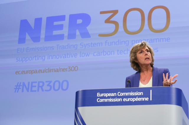 "Illustration of ""Press conference by Connie Hedegaard, Member of the EC, on the second call of the 'NER 300' funding programme"""