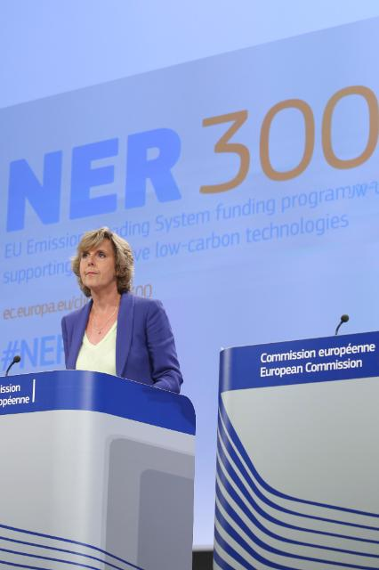 Press conference by Connie Hedegaard, Member of the EC, on the second call of the 'NER 300' funding programme