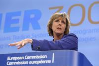 Connie Hedegaard, at the rostrum