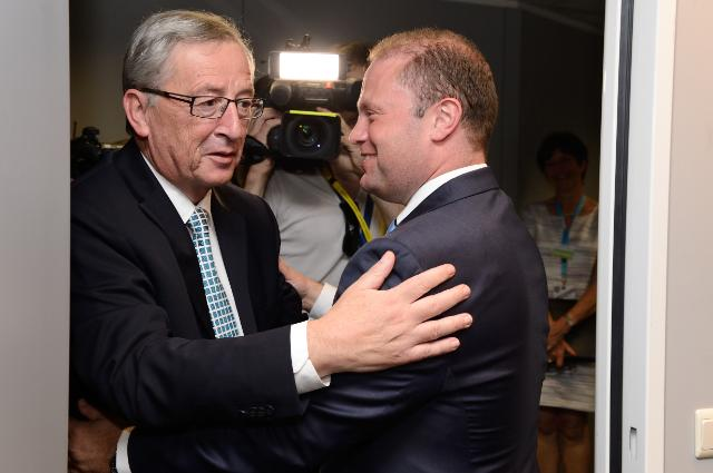 Meeting between Joseph Muscat, Maltese Prime Minister, and Jean-Claude Juncker, President-elect of the EC
