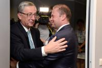 "Illustration of ""Meeting between Joseph Muscat, Maltese Prime Minister, and Jean-Claude Juncker, President-elect of the EC"""