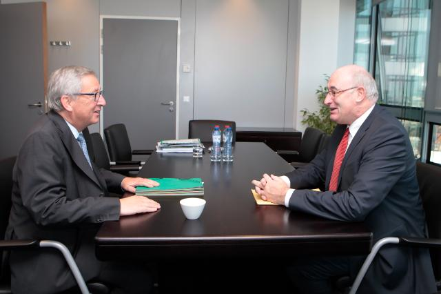 Meeting between Phil Hogan, former Irish Minister for Environment, Community and Local Government, and Jean-Claude Juncker, President-elect of the EC