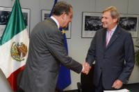 "Illustration of ""Visit of Rodrigo Alejandro Nieto Enríquez, Mexican Undersecretary for Urban Development and Housing, to..."