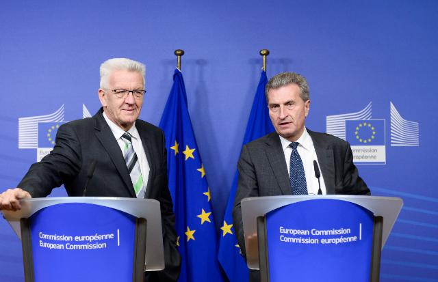 Visite de Winfried Kretschmann, ministre-président du Land de Baden-Wurtemberg, à la CE