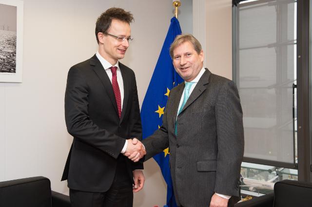 Visite de Péter Szijjártó, ministre hongrois des Affaires étrangères et du Commerce, à la CE