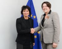 """Illustration of """"Visit of Doris Leuthard, Head of the Swiss Federal Department for Environment, Transport, Energy and..."""