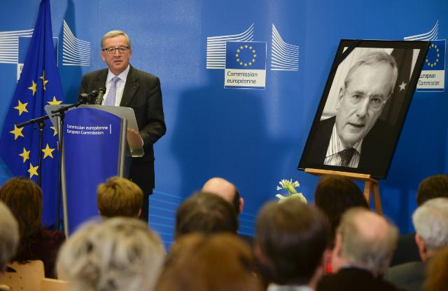 Participation of Jean-Claude Juncker, President of the EC, in a ceremony as a tribute to Jacques Barrot, former Vice-President of the EC