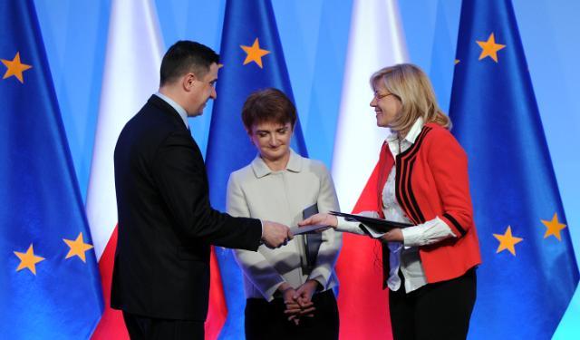 Visite de Corina Creţu, membre de la CE, en Pologne